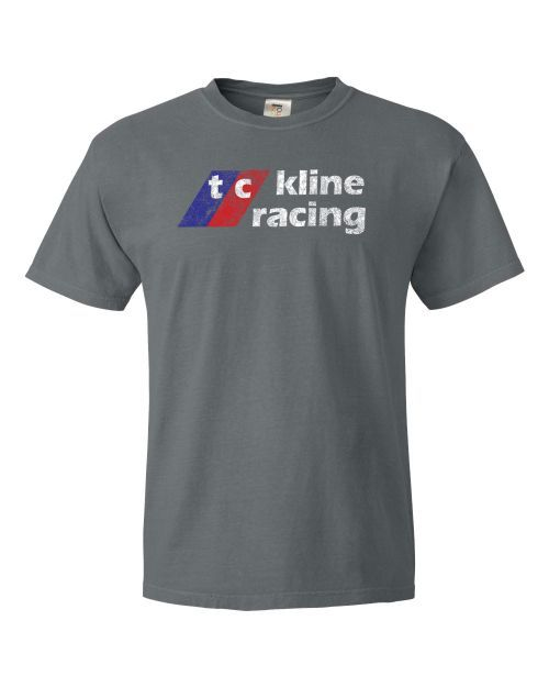 TC Kline Racing Faded T-shirt: Free Freight! - T-Shirt with 'faded' logo on the front